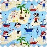 Ahoy Pirate Children's Roman Blind